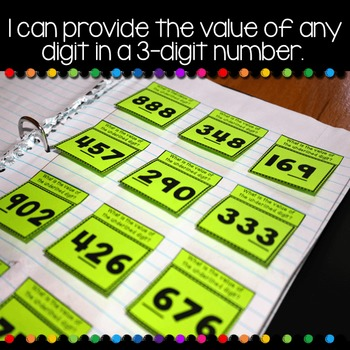 Place Value Second Grade Math Notebook