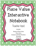 Place Value Interactive Notebook  **TEKS Aligned!!