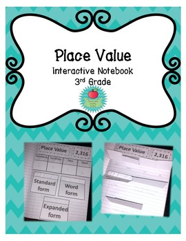 Place Value Interactive Notebook for 3rd Grade