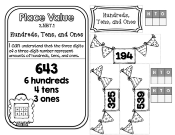 Place Value Interactive Notebook for Second Grade - NO PREP