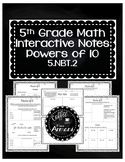 Powers of 10 Interactive Notes