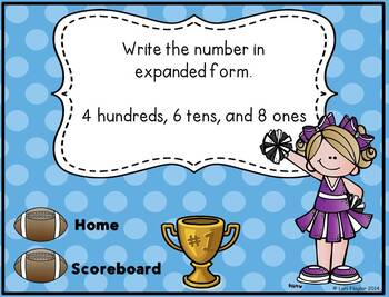 Place Value Interactive Math Game Second Grade Edition