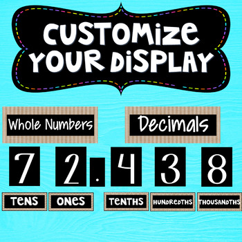 Place Value Posters Interactive Wall Display Board ~ Burlap ~ Farmhouse