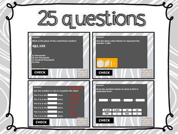 Place Value Interactive Whiteboard Game