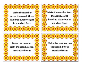 Place Value Interactive/Hands-On Task Cards (Understanding Word Form)