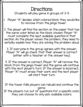 Place Value Jenga Math Game: Base 10 Blocks