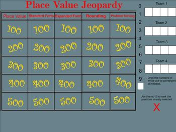Place Value Jeopardy - Smartboard