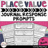 Place Value Math Journal Prompts 5th Grade - Distance Learning