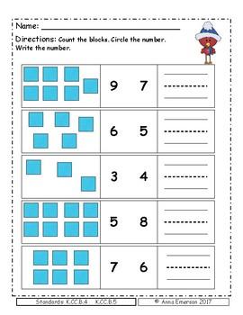 Place Value Kindergarten - Winter Theme