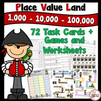 Place Value Land for the Thousands Place in Pirate Theme