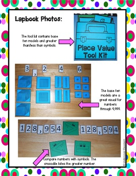 Place Value Lapbook Interactive Kit