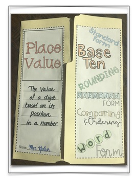 Place Value Lapbook Kit: Differentiated for Grades 3-5