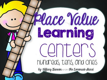 Place Value Learning Centers {Hundreds, Tens, and Ones}