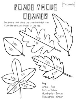 Place Value Leaves - 2 Place Value Craftivities!