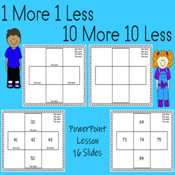 place value lesson ten more ten less one more one less editable powerpoint. Black Bedroom Furniture Sets. Home Design Ideas
