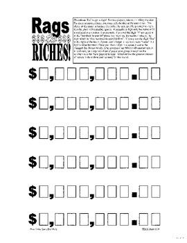 Place Value Lesson Plan (Including Money)