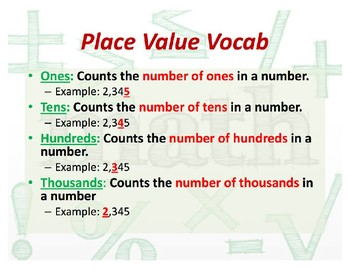 Place Value Lesson and Practice Sheet