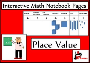 Place Value Lesson for Interactive Math Notebooks