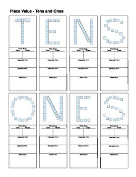 Place Value: Letters and Words - TENS and ONES