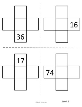 Place Value Leveled Centers, Plus and Minus Ten and One and Number Mazes
