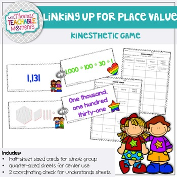 Place Value Linking Up for Place Value Activity Standard, Word, Expanded Form