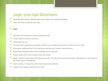 Place Value Logic Line Up