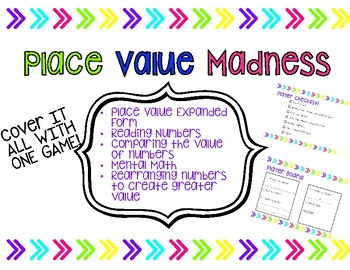 Place Value Madness Game