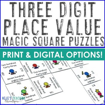 Place Value Games | Place Value Worksheet Alternatives - 3 digit numbers