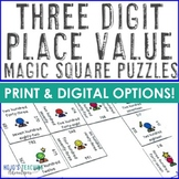 Place Value Math Center Game - 3 Digit Numbers