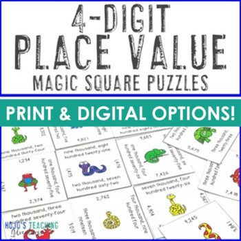 Place Value Math Center Games