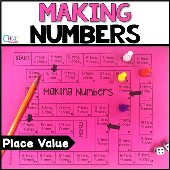 Place Value Making Numbers Board Game