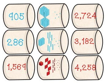 Place Value - Marshmallow Match Up