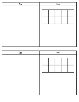 Place Value Mat with Ten Frame