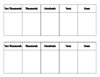 Place Value Mat & Numeral Cards (Common Core)