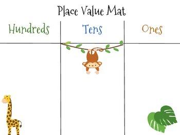 Place Value Mat-Safari/Jungle Theme!