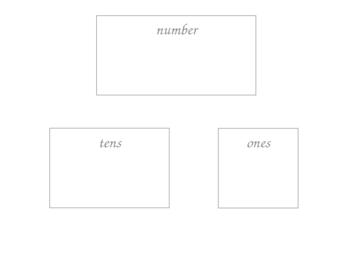 Place Value Mat and Tents for Two and Three Digit Numbers