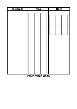 Place Value Mat for Base-10 Blocks
