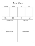 Place Value Mat (Up to Thousands)