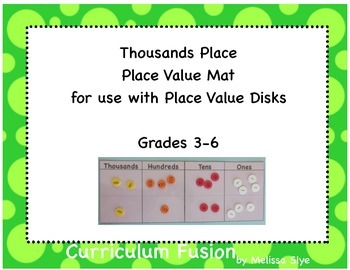 Place Value Mat to the 1000's Place