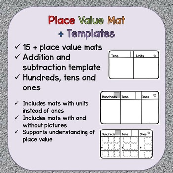 Place Value Mat with Addition and Subtraction Template