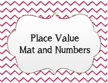 Place Value Mat with Numbers