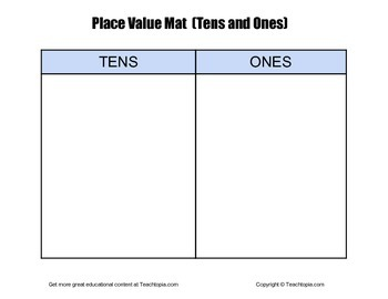 Place Value Mat with Tens and Ones