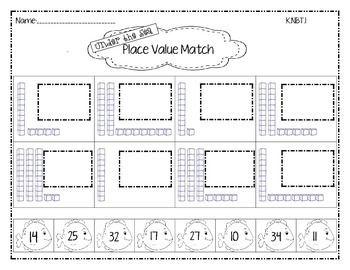 Under the Sea Place Value Match