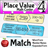 Place Value Matching Math Game with Number Names Expanded Form & Decimals