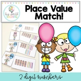 Place Value Match Activity - 2 Digit Numbers