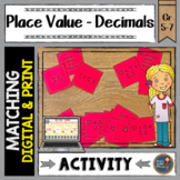 Place Value Decimals Match