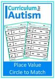 Place Value Match Digits Autism Special Education