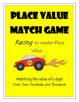 Place Value Match Game - to the thousandths place