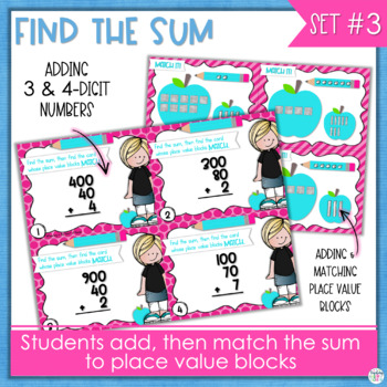 Place Value Math Centers - 3rd Grade