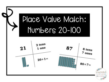 Place Value Match: Numbers 20-100